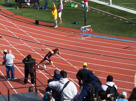 Cade Liverman, start of 400M Hurdles, 2008 Penn Relays
